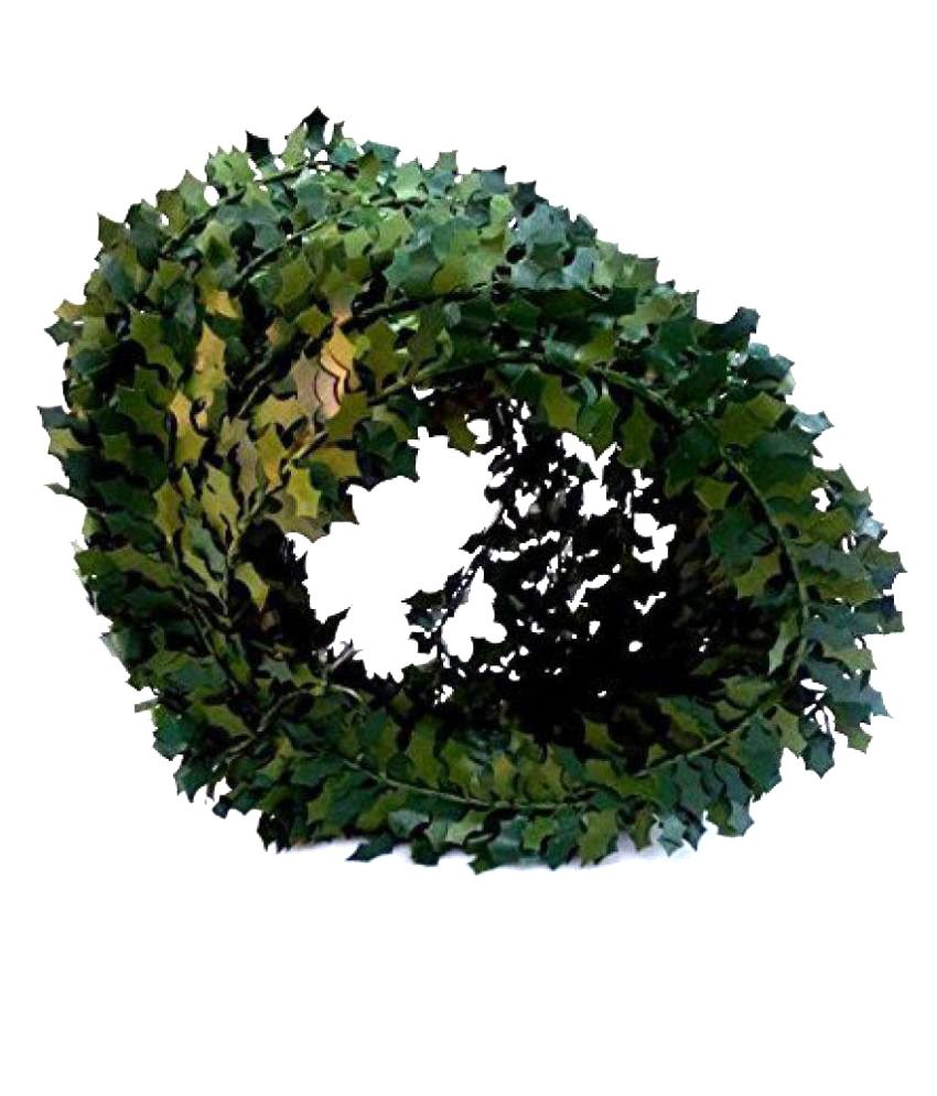 Decoration Leaves Roll 7.5 MTS, Color Green,Used for Tiara, Decoration, DIY, Handicrafts etc.