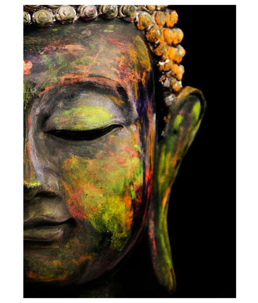 Awesome Creations Buddha Half Face Paper Photo Wall Poster Without Frame Single Piece