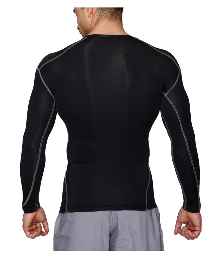 Azani Black Full Sleeve Compression Tops