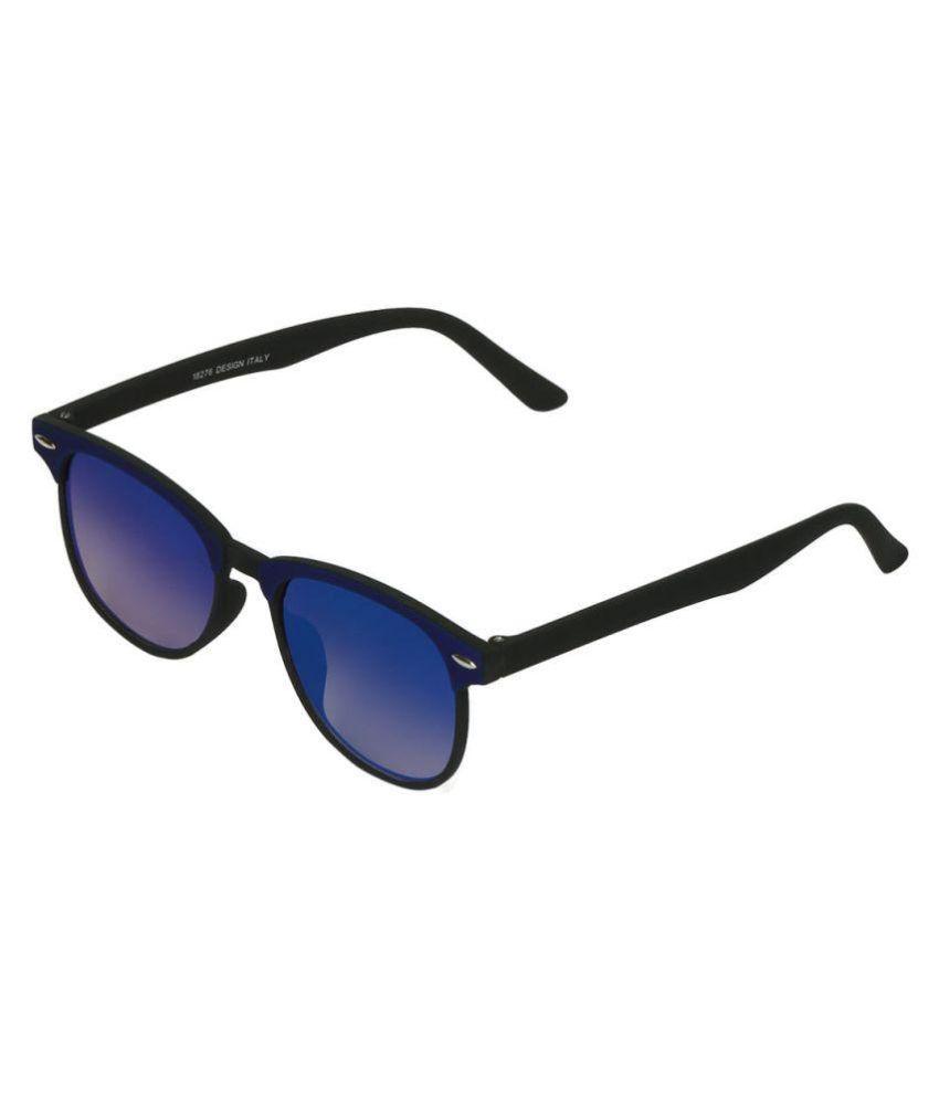 Fluid Blue Round Sunglasses ( 18276-D.BL.BK )