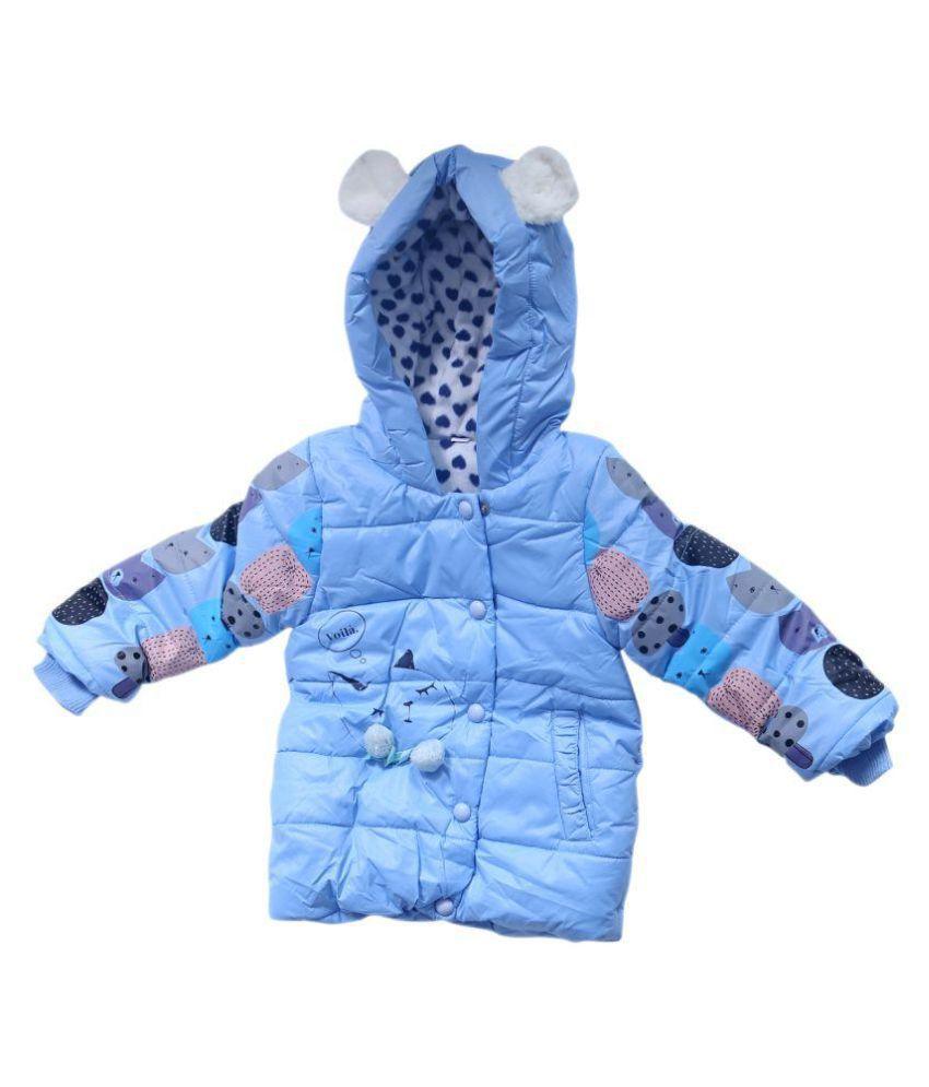 Ishika Garments Blue Faux Leather Jacket