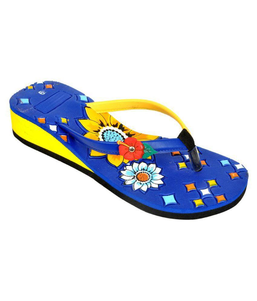 Leather Line Tack Multi Color Slippers