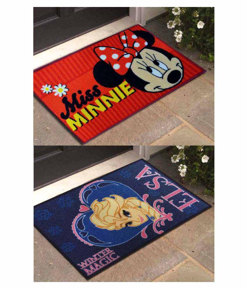 Disney Multi Set of 2 Regular Floor Mat