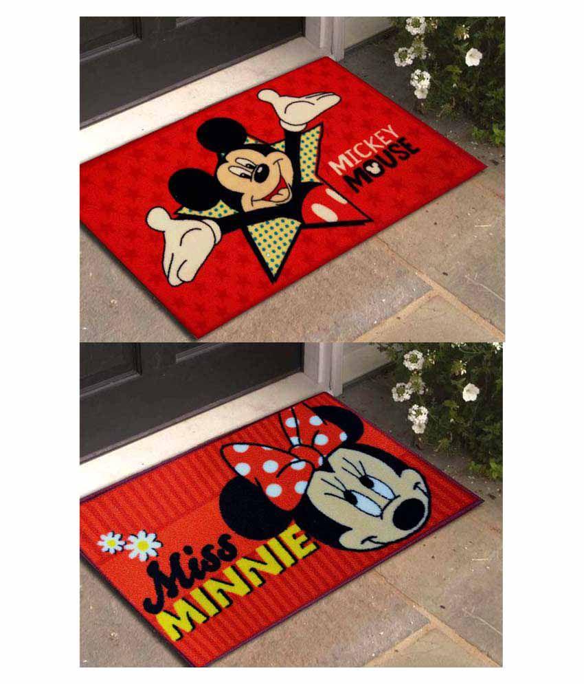 Disney Red Set of 2 Regular Floor Mat