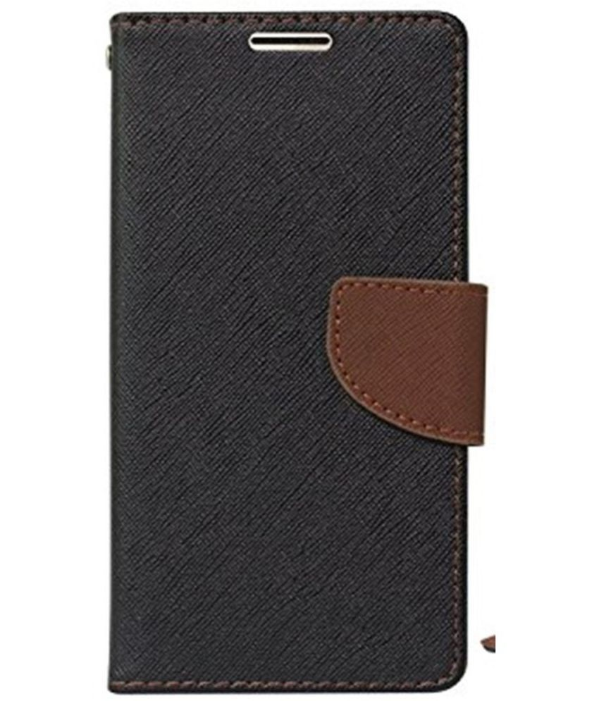 LYF Flame 2 Flip Cover by SCHOFIC - Brown