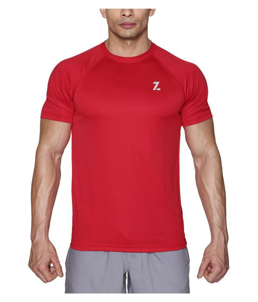 Azani Men's Sub-Zero Tech Short Sleeve T-Shirt Crimson Red