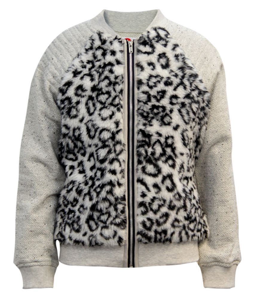 The Cranberry Club Grey Polyester Light Weight Jacket