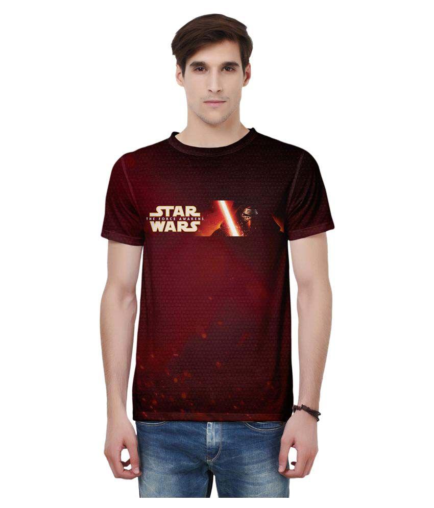 Star wars Maroon Round T-Shirt
