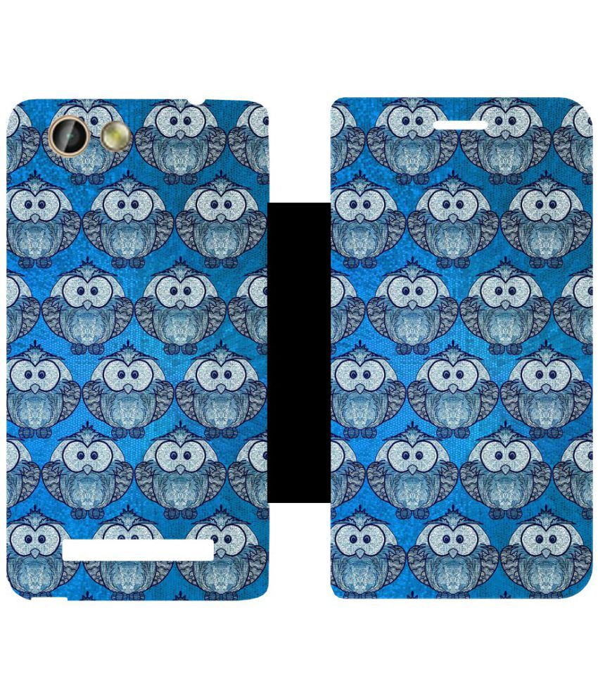 Gionee F103 Pro Flip Cover by Skintice - Blue