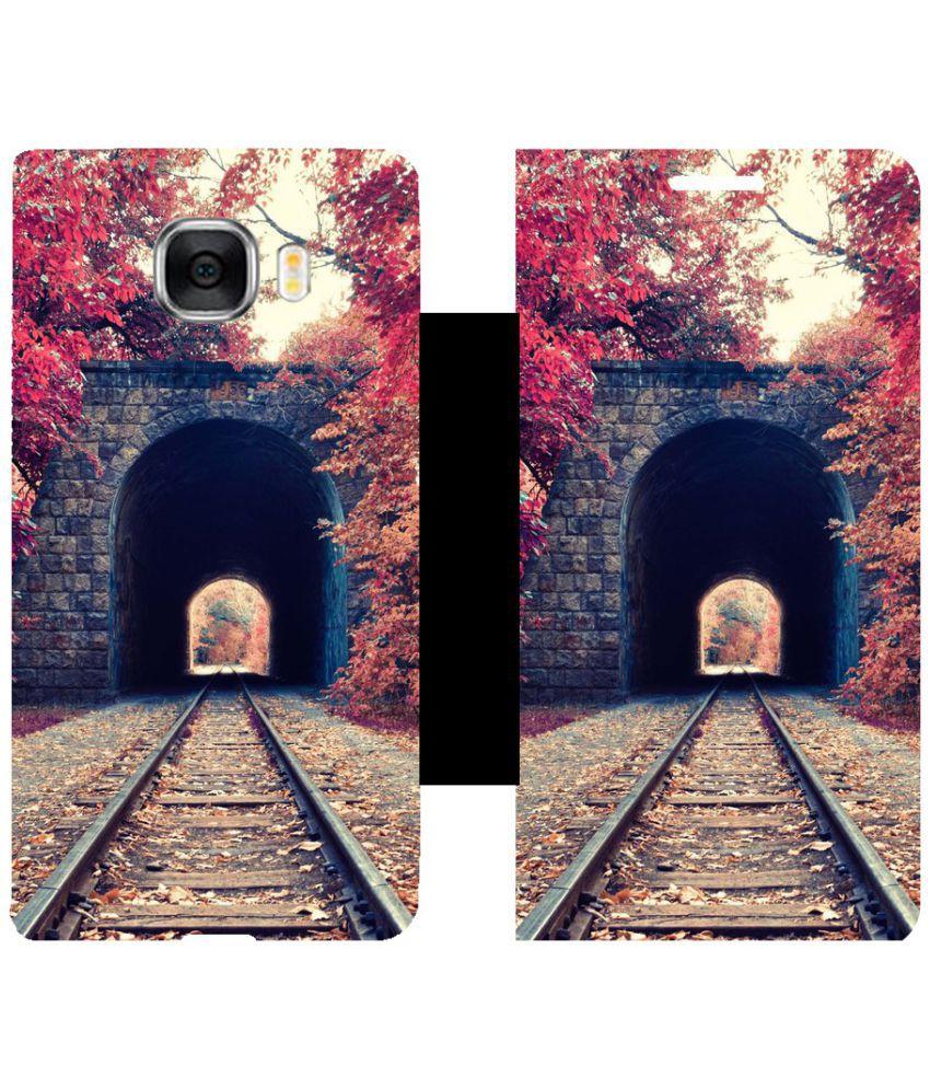 Samsung Galaxy C7 Flip Cover by Skintice - Multi