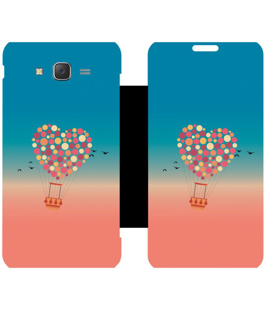 Samsung Galaxy J5 Flip Cover by Skintice - Pink