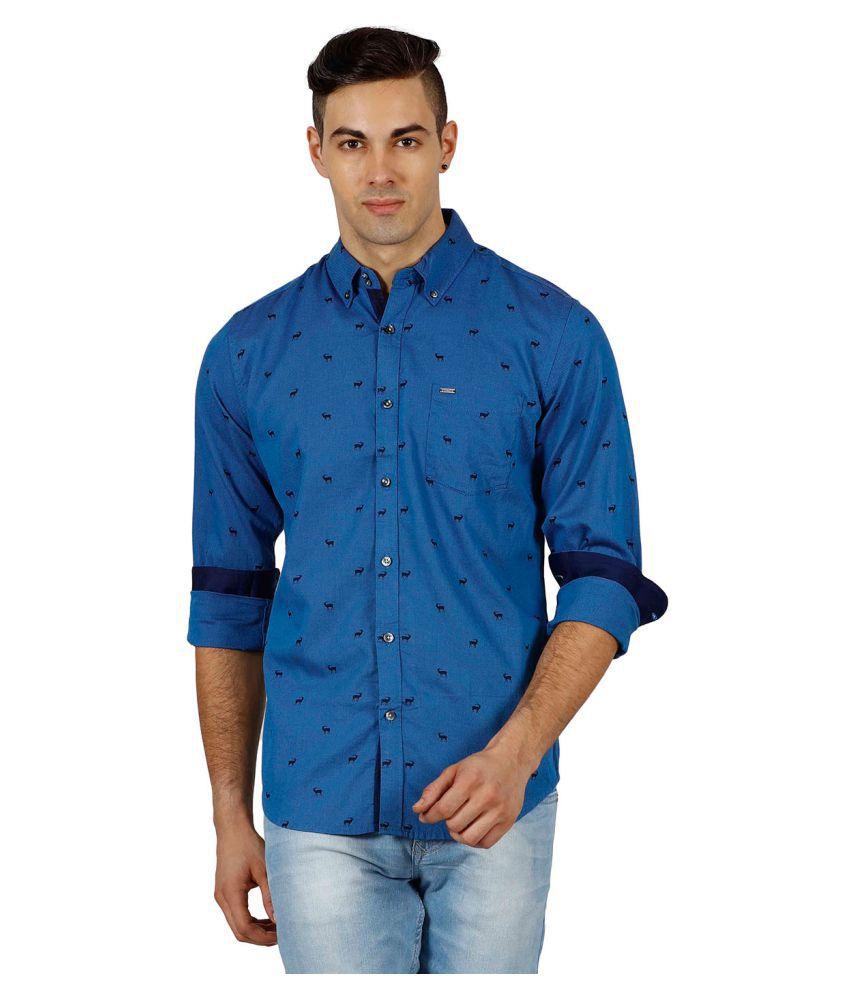 Meltin Blue Casuals Slim Fit Shirt