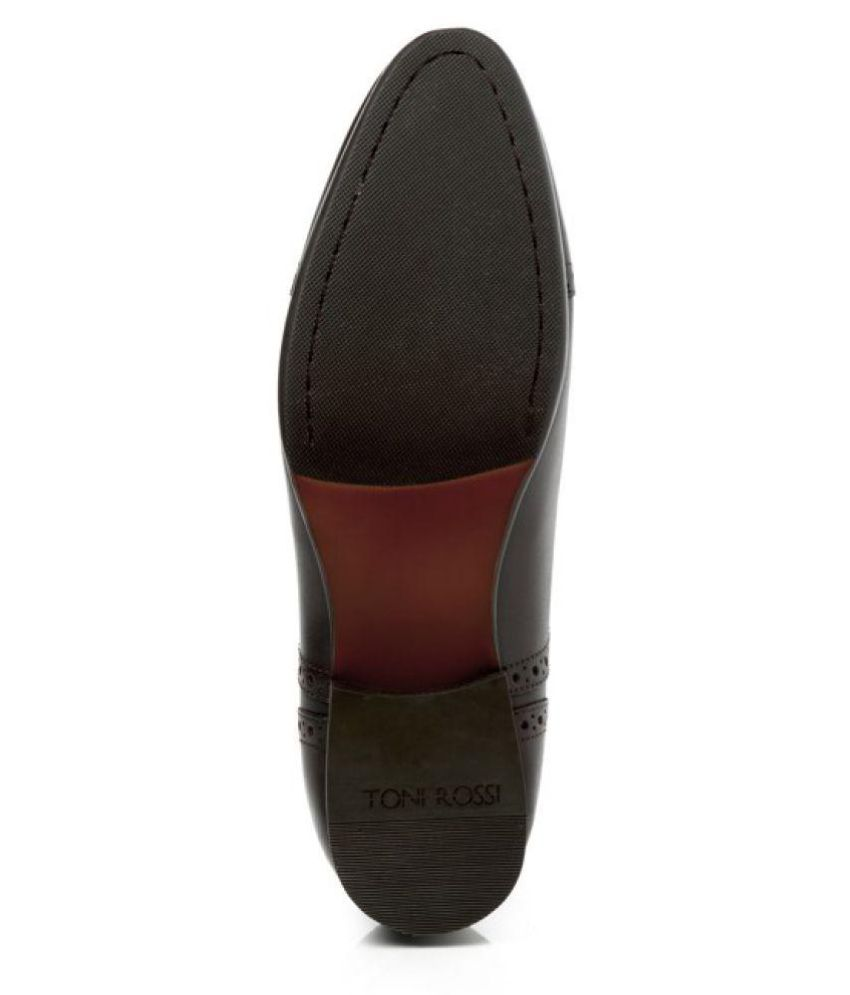 TONI ROSSI Brogue Genuine Leather Brown Formal Shoes