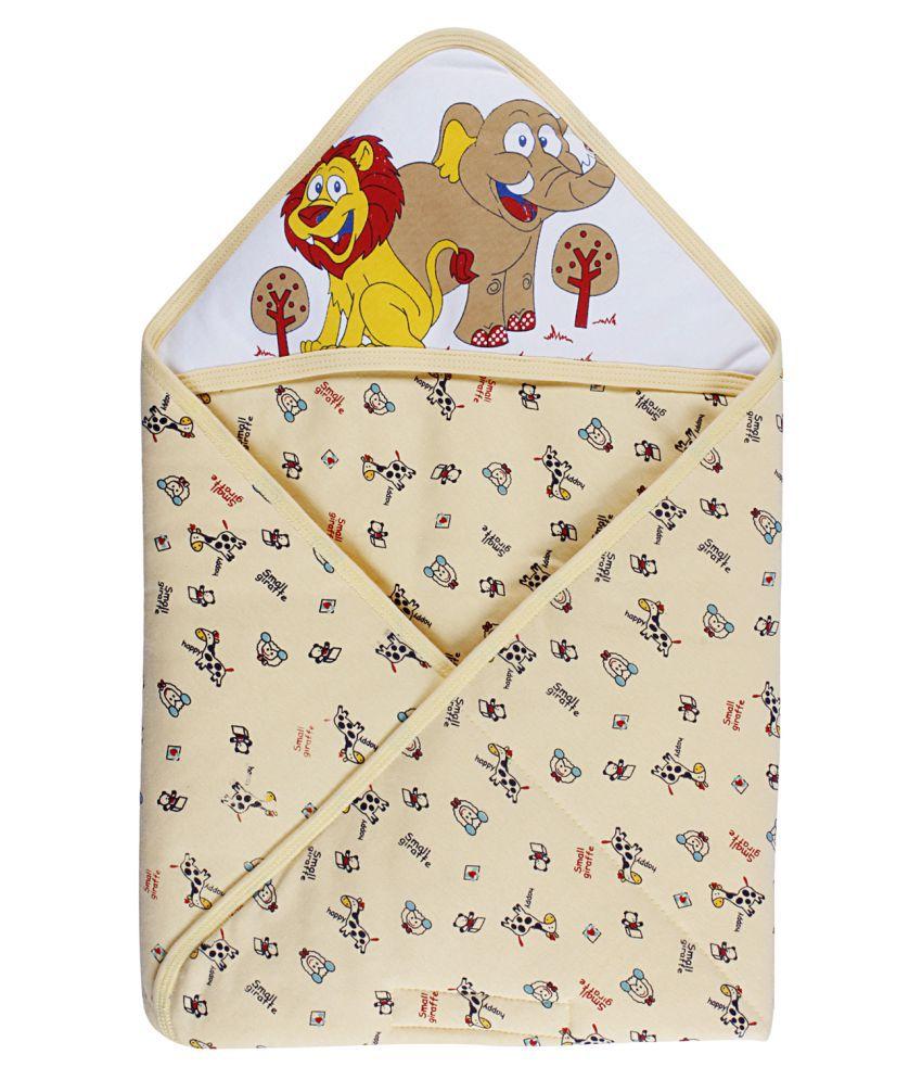 Littly Printed Hooded Baby Wrapper Blanket For Newborns Baby Blanket/Baby Swaddle/Baby Sleeping Bag