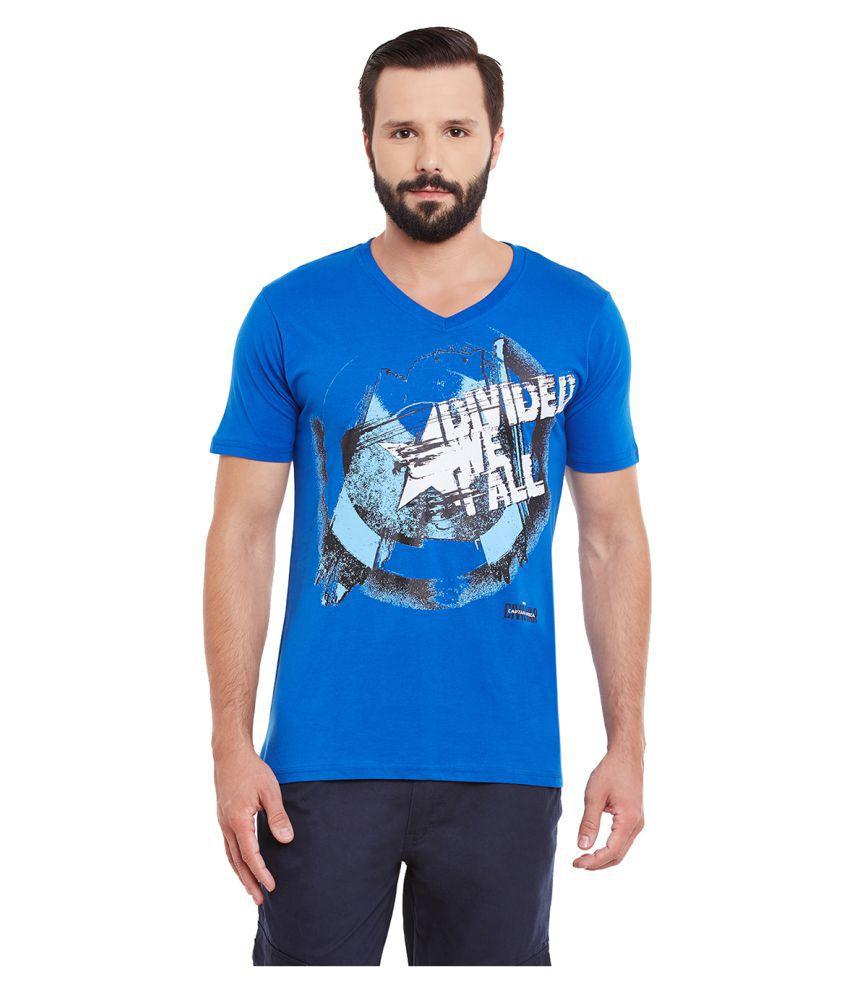 Yepme Blue V-Neck T-Shirt