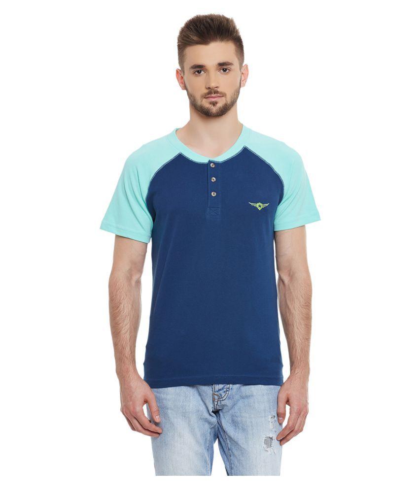 Yepme Blue Henley T-Shirt