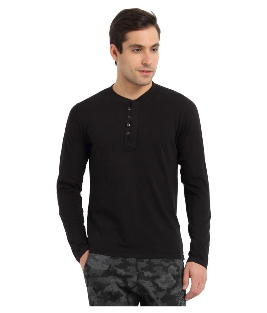ZSOLT Black Henley T-Shirt