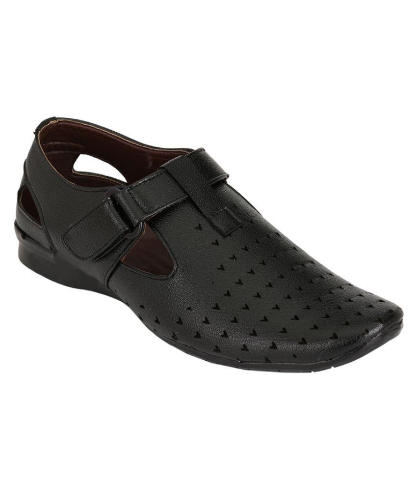 Leeport Dexter Black Sandals