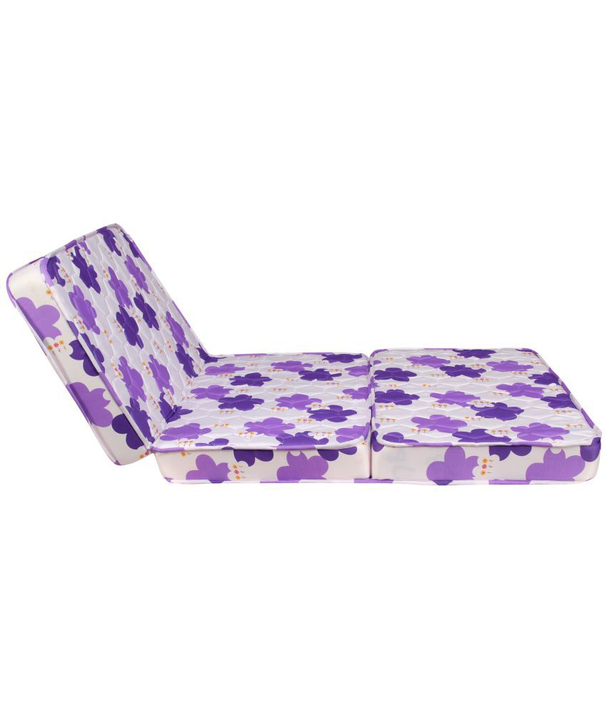 kurlon kurlo fold 4 inch single foam mattress 72x36x4 inch purple