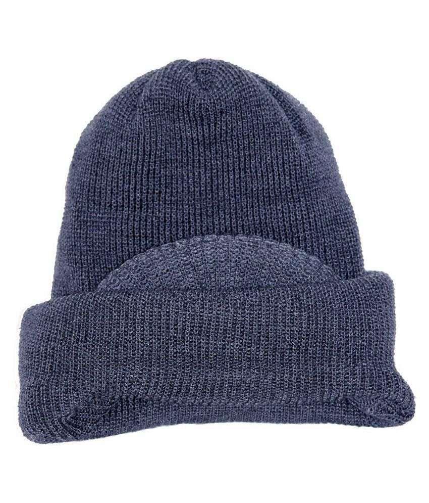 Natty's Gray Knitted Wool Caps