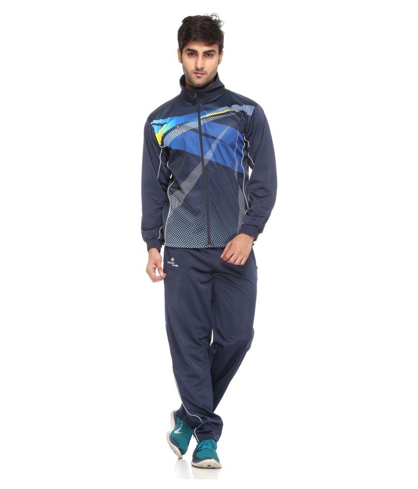 Sport Sun Sportswear Sublimation Print Navy Polyester TrackSuit