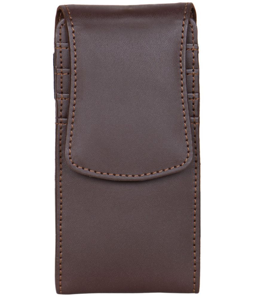 Micromax X1I+ ULTRA Holster Cover by Senzoni - Brown