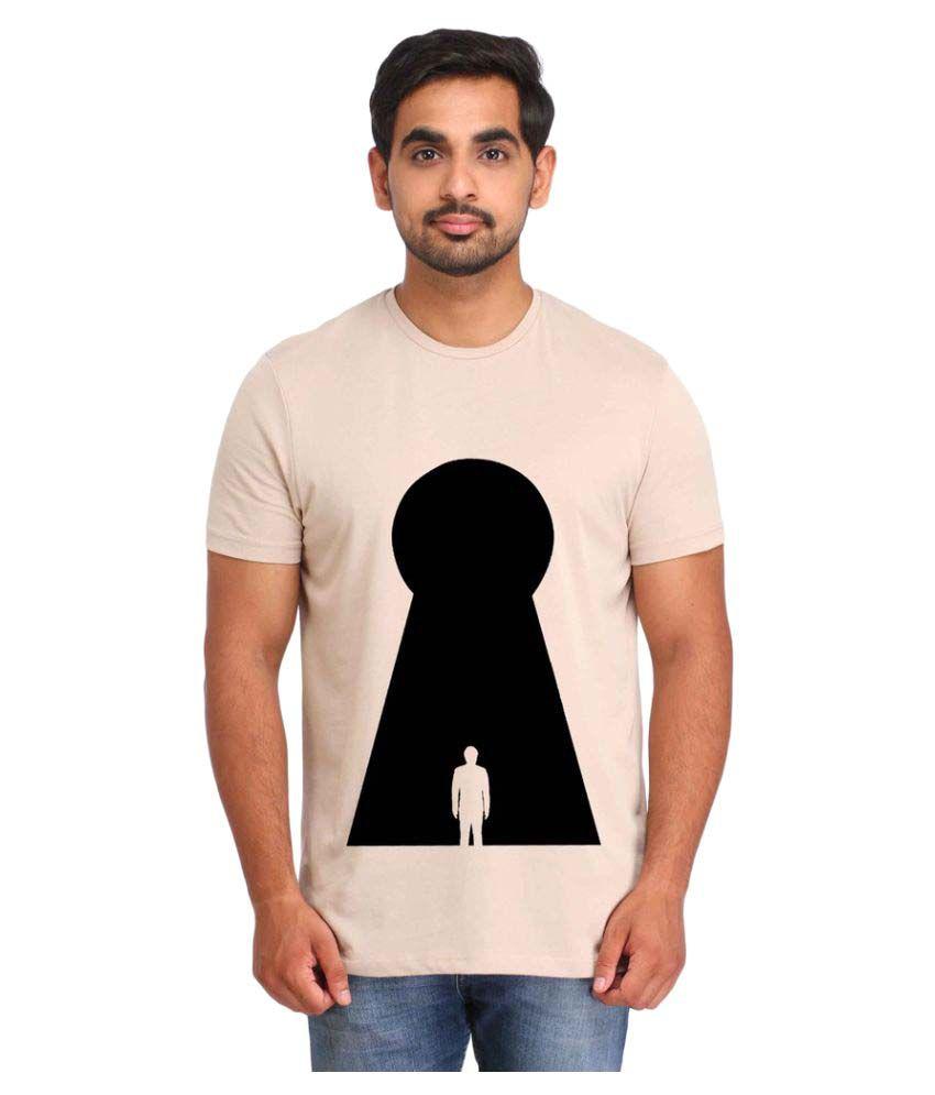 Snoby Beige Round T-Shirt