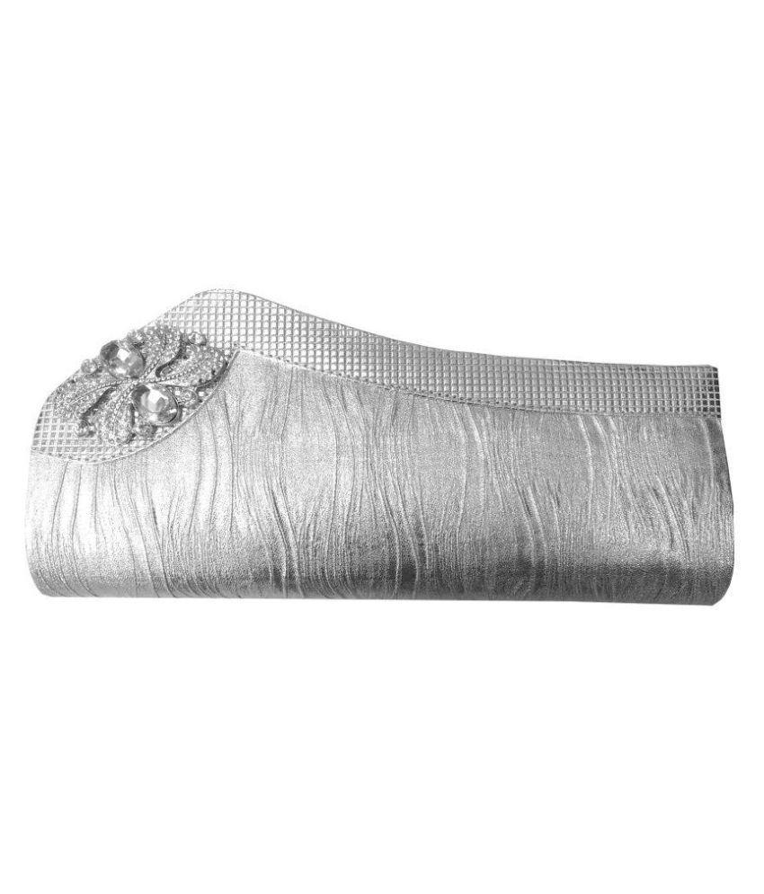 Feliza Silver Fabric Wristlet