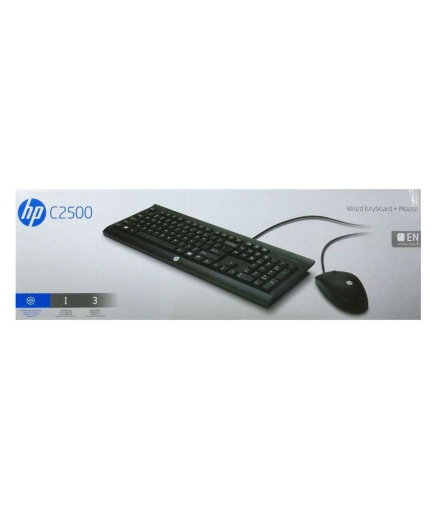 1011f4033c9 HP C2500 Black USB Wired Keyboard Mouse Combo - Buy HP C2500 Black ...