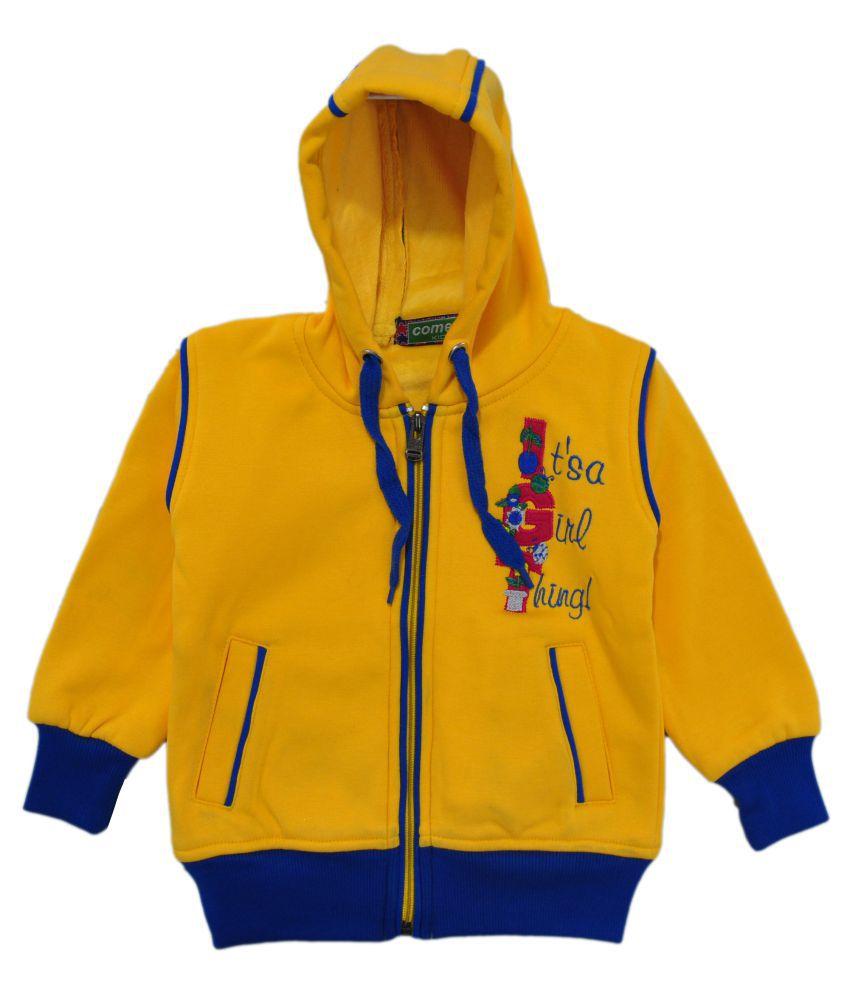 Come In Kids Gold Fleece Girl's Printed Sweatshirt