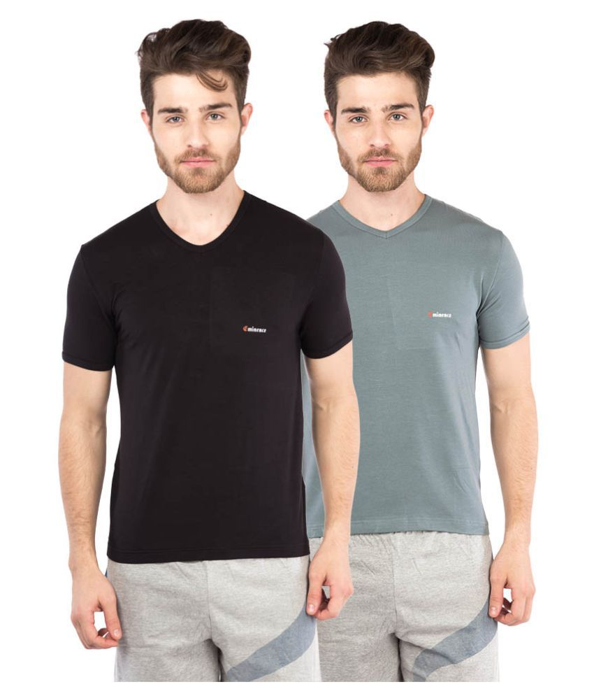 Eminence Multi V-Neck T-Shirt Pack of 2
