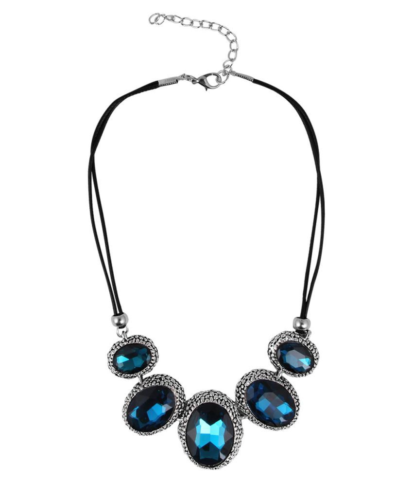 Jewelizer Bold Gemstones Necklace