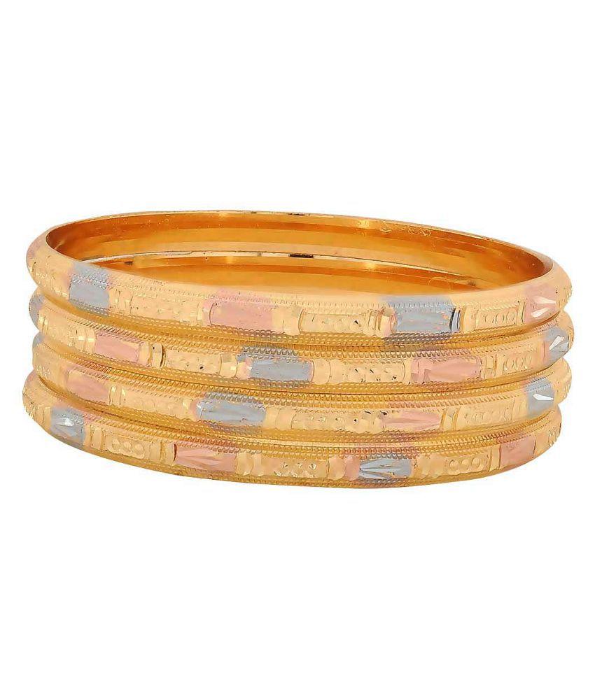Maayra Multicolour Brass Bangle Set