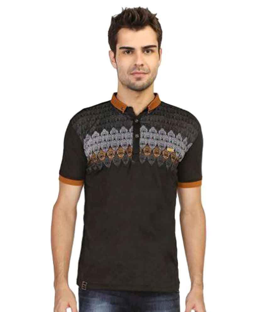 Stride Black Henley T-Shirt