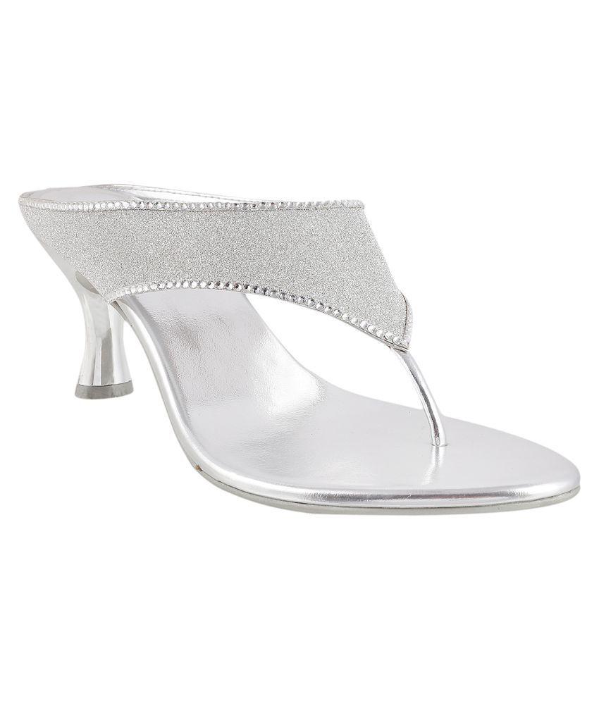 METRO SILVER Stiletto Heels