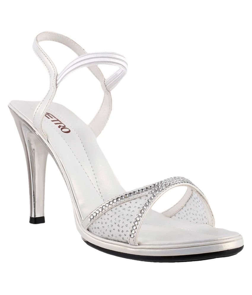 METRO WHITE Stiletto Heels