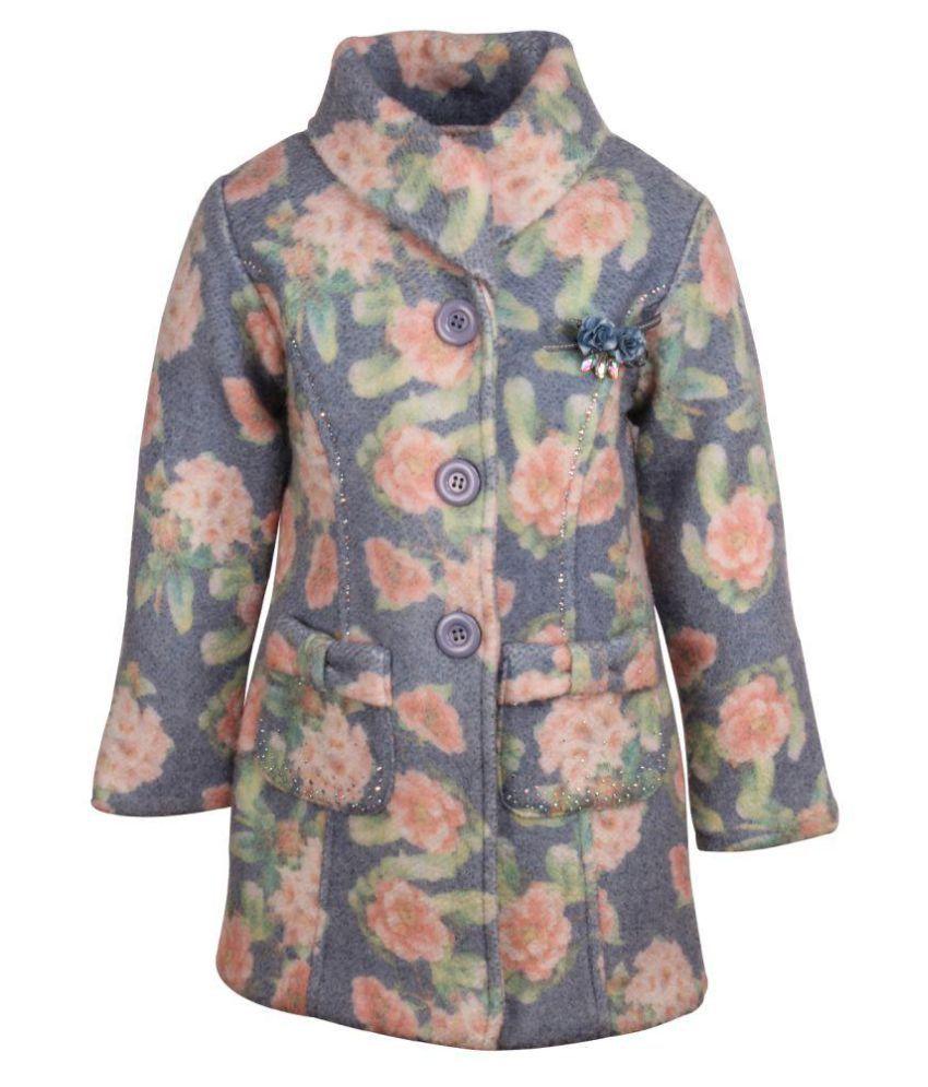 Cutecumber Gray Wollen Heavy Winter Coat