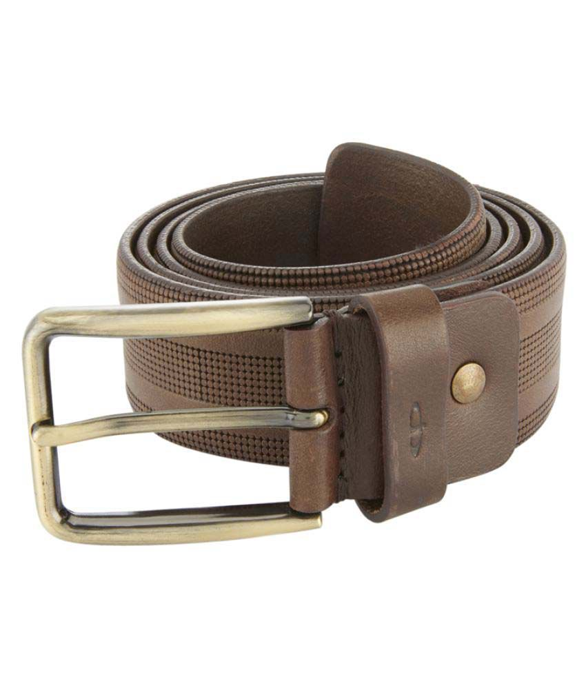 ColorPlus Brown Leather Casual Belts