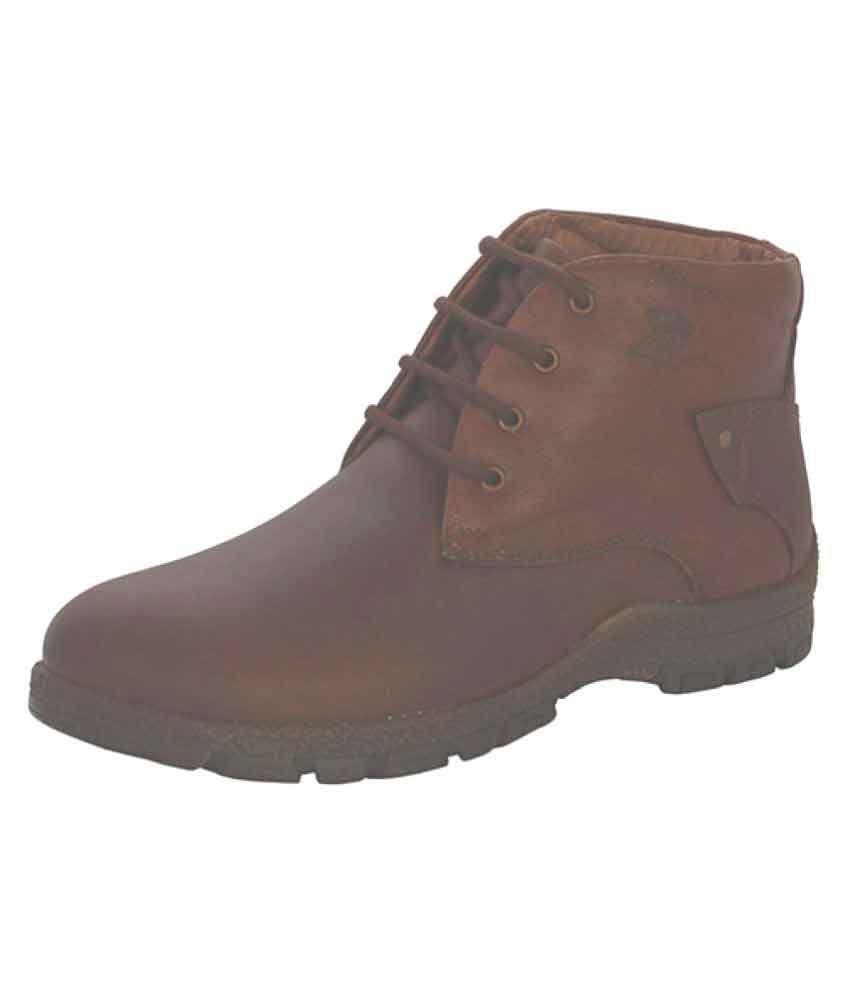 JX Brown Formal Boot