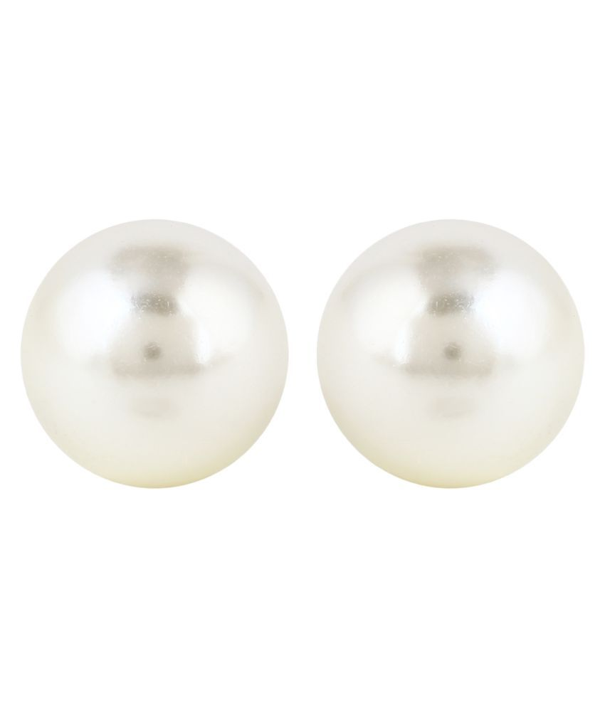 Panash White Alloy Elegantia Cocktail Pearl Stud Earring for Women & Girls