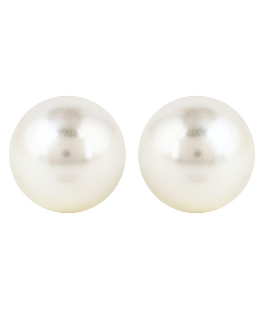 Panash White Alloy Elegantia Cocktail Pearl Stud Earring for Women & Girls