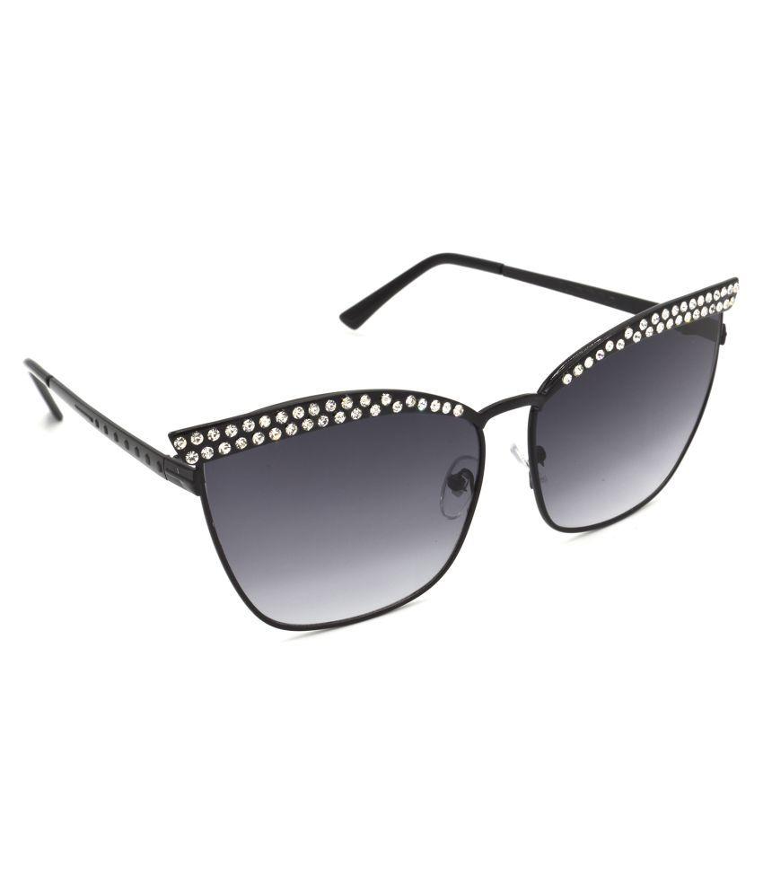 Red Leaf Grey Cat Eye Sunglasses ( RD-BX330-BK-GRY )