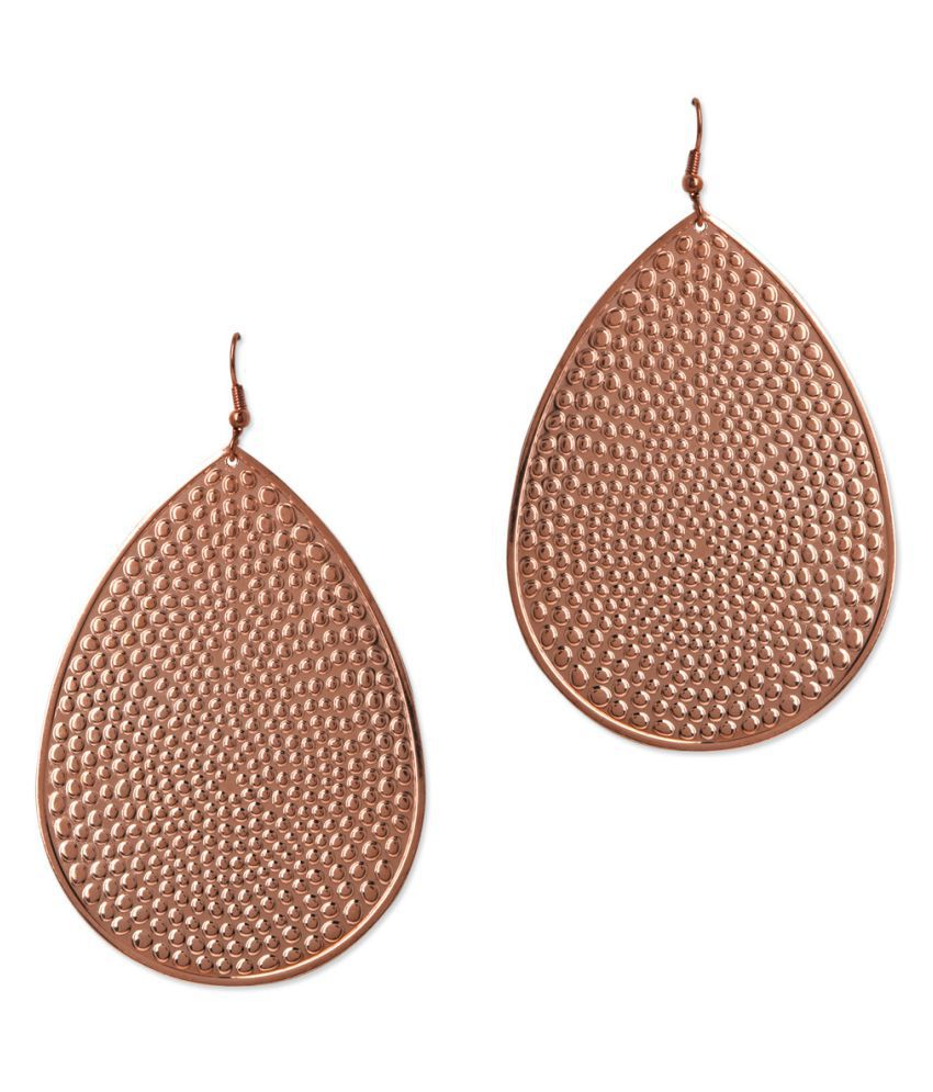 Jewelizer Rose Gold Alloy Hanging Earrings