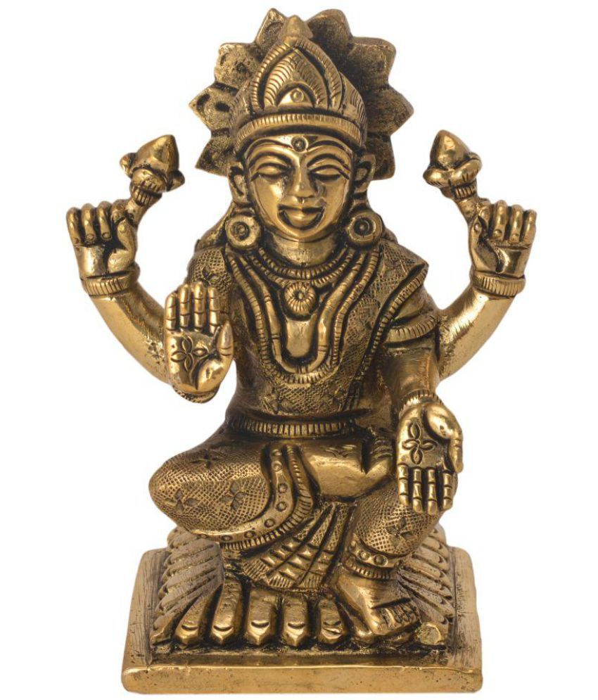 Bharatart Laxmi Brass Idol