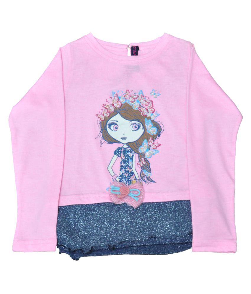 Ziama Pink Crew Neck Sweatshirt
