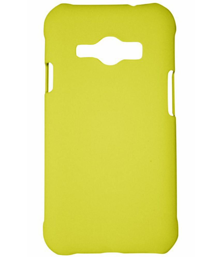 Samsung Galaxy J1 Ace Cover by Winsome Deal - YELLOW