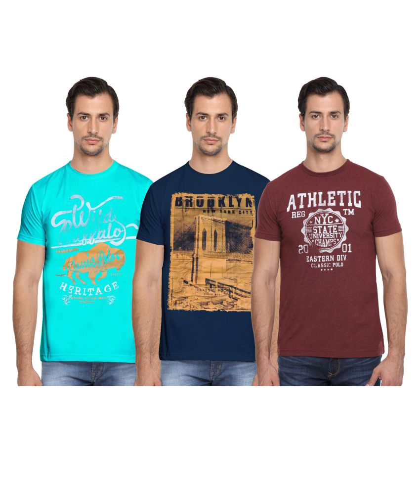 Classic Polo Multi Round T-Shirt Pack of 3