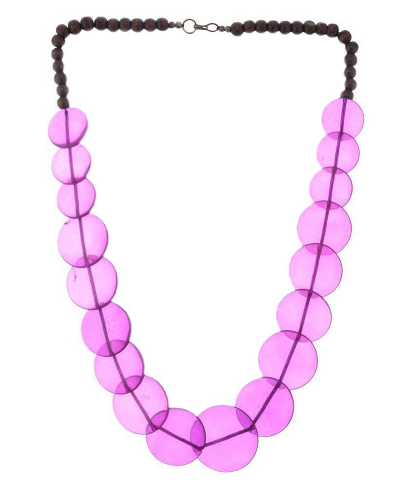 Modish Look Purple Necklace