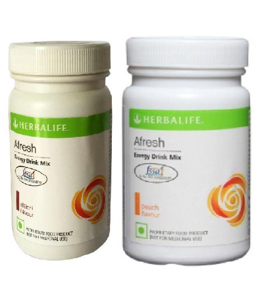 Herbalife Afresh Energy Drink Mix Elaichi And Peach Flavour 50g Powder