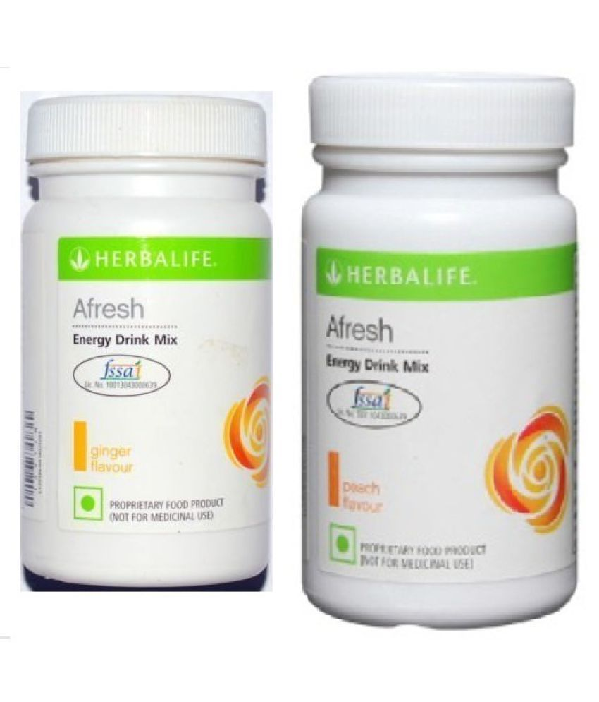 Herbalife Afresh Energy Drink Mix Ginger And Peach Flavour 50g Powder